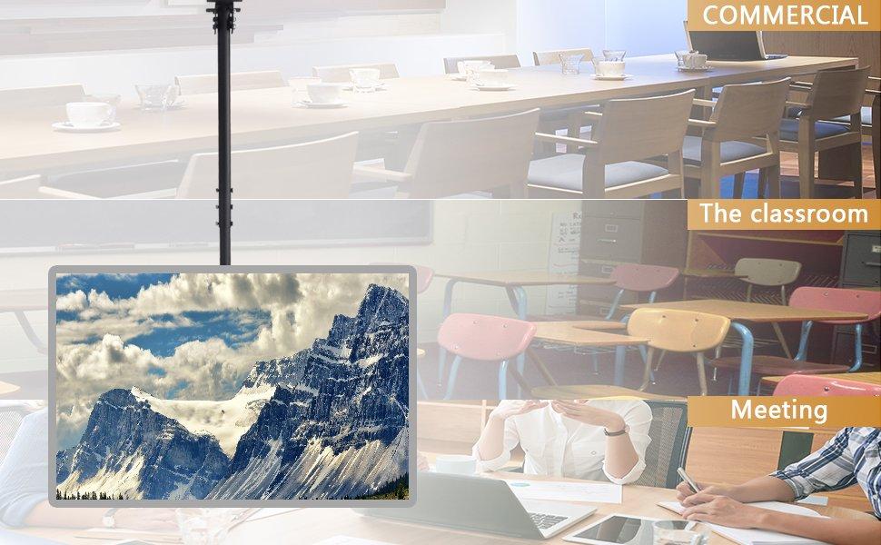 Ceiling Tv Bracket Mount Tilt Swivel For Most 32 55