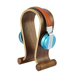 wooden holder for gaming headset