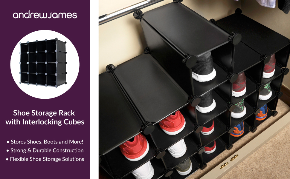 Shoe Storage Solutions Part - 40: The Andrew James Shoe Rack Organiser Is A Versatile Shoe Storage Unit That  You Can Adapt To Fit The Unique Needs Of Your Home.