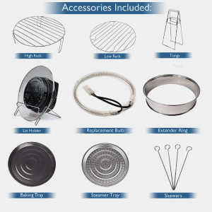 black halogen oven accessories