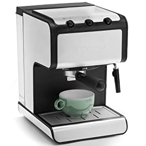 Andrew James Espresso Machine Barista Coffee Machine With 15 Bar Pump And Milk Frother Ideal For Home Kitchen Reusable Stainless Steel Filter