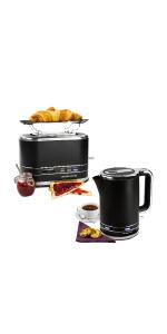 andrew james lumiglo toaster kettle set