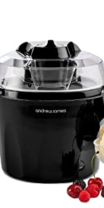 andrew james black ice cream maker