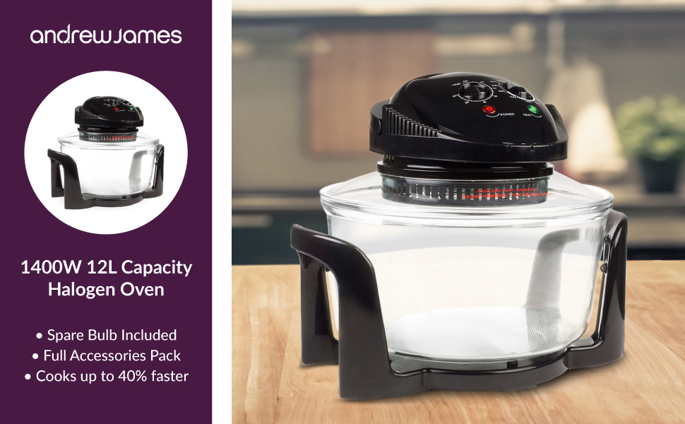 andrew james 12L capacity halogen oven
