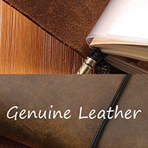 leather journal hidden penholder refills passport rustic old world daily diary authentic leather