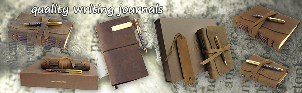 vintage leather journals antique travelers notebook small pocket diary journal writing gift set