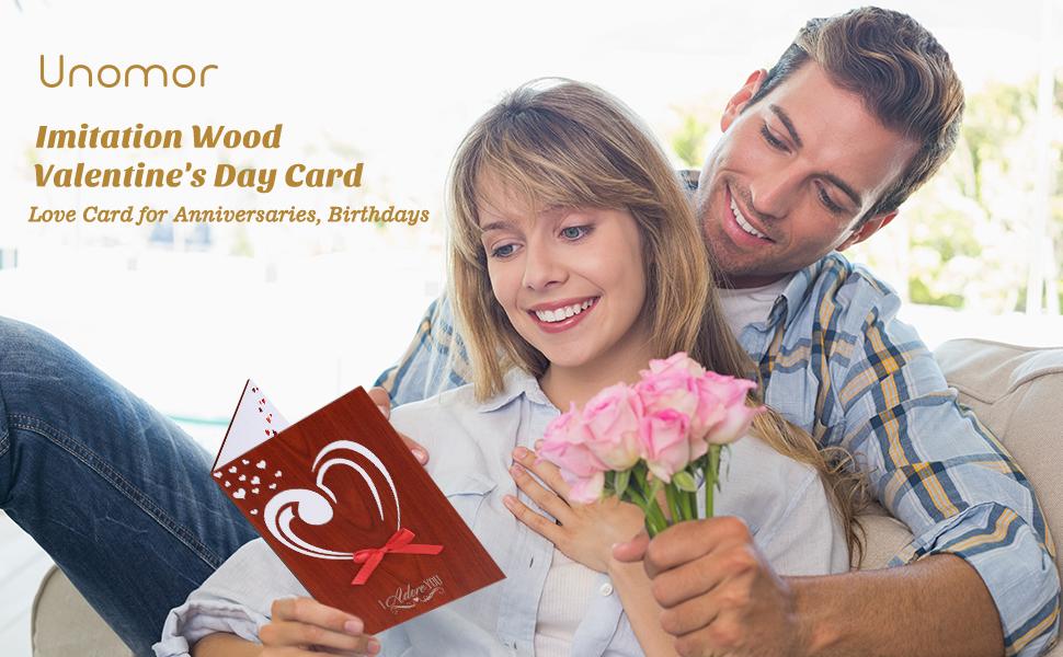 5cbf33961a Unomor Mothers Day Card Love Card Handmade Imitation Wood ...
