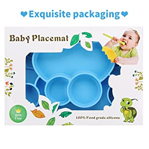 Aisoway Baby Silicone Non Slip Placemat for Kids Baby Toddlers Reusable Portable Cloud Shape Mat for Travel and High Chairs