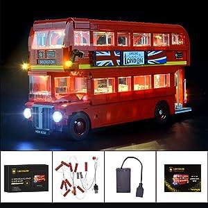 Led Light Set w// Battery Box For Lego Technic 10258 London Bus LED Kit For 21045