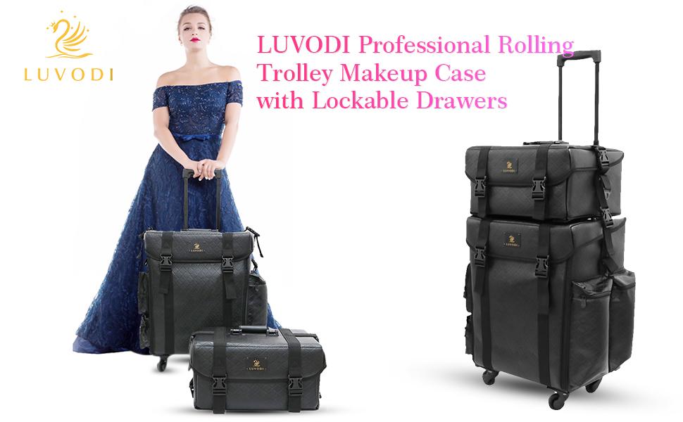 pro makeup trolley case