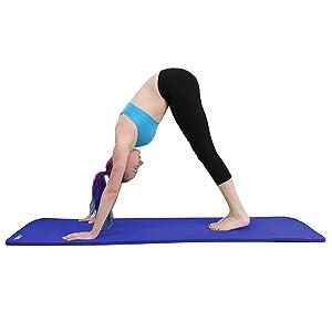 9f1c5e7f9c90 JLL Yoga Mat Extra Thick 15mm Non-Slip Pilates Workout (Black ...
