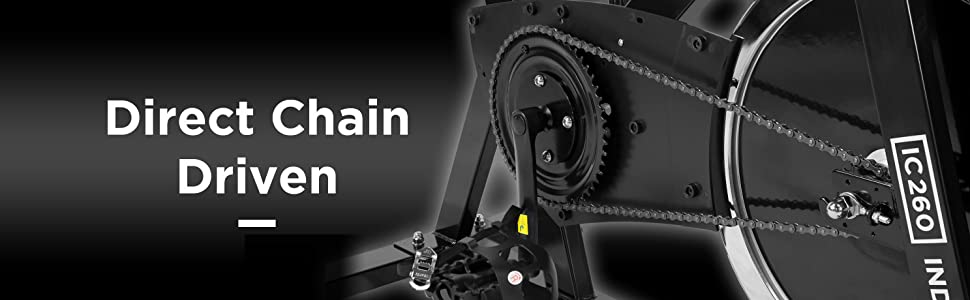 JLL IC260 Indoor Cycling 2019 Black Edition, 15kg Flywheel with Adjustable  Resistance, 3-Piece Crank, 6-Function Monitor with Heart-rate, Adjustable
