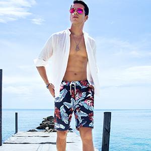 087054b230 mens swimming short swim trunks for men boardshorts beach sport vacation  fashion Hawaii style