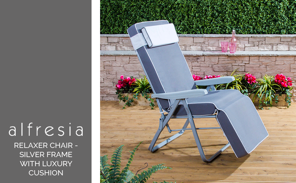 c2d5518c15c7 Alfresia Relaxer Chair - Silver Frame with Luxury Grey Cushion ...