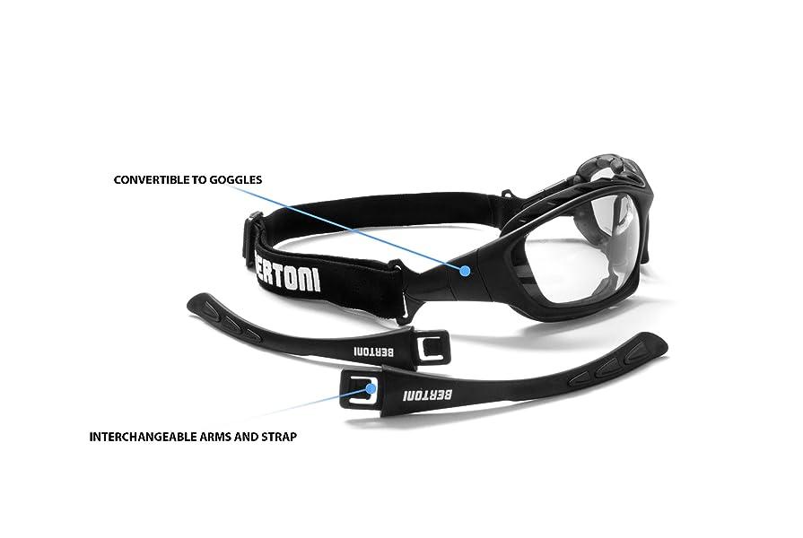 3f81e77404 Photochromic Extreme Sports Sunglasses - Motorcycle Prescription Goggles-  Antifog lens by Bertoni - Italy F366A