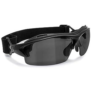 6c78974c04 Bertoni Prescription Sport Sunglasses Goggles – Sport Glasses with Optical  Clip for Pescription Lenses - Interchangeable Arms and Strap – mod. 399