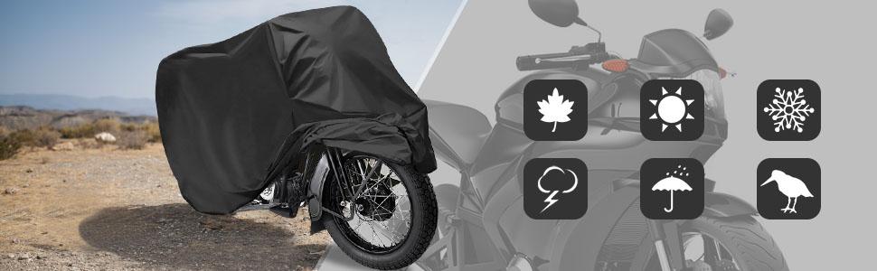 LEXMOTO VENOM 125 Oxford Motorcycle Cover Breathable Motorbike Black Grey