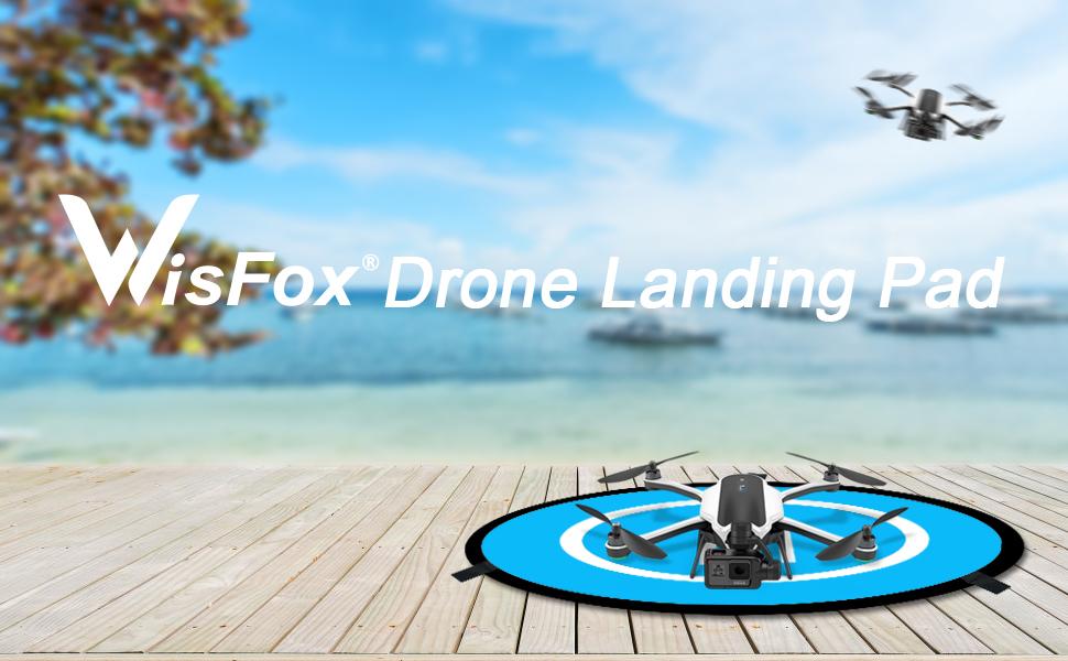Drone Landing Pad, WisFox Universal Waterproof D 75cm/30'' Portable  Foldable Landing Pads for RC Drones Helicopter, PVB Drones, DJI Mavic Pro  Phantom