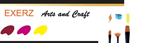 Exerz Art and crafte easels canvas brushes artist paint