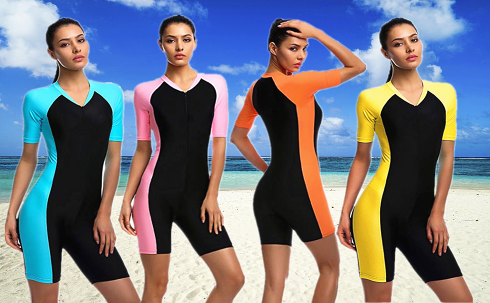 f3c70494ee OUO Fashion Women Ladies Girls One Piece Short Sleeve Swimsuit ...