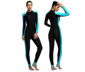 iDrawl Women Ladies Girls Jumpsuit One Piece Full Length Swimming Costume