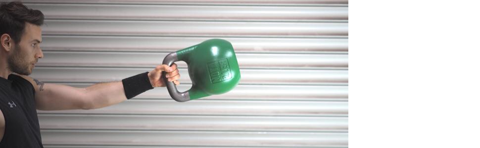 Kettlebell wordt gebruikt