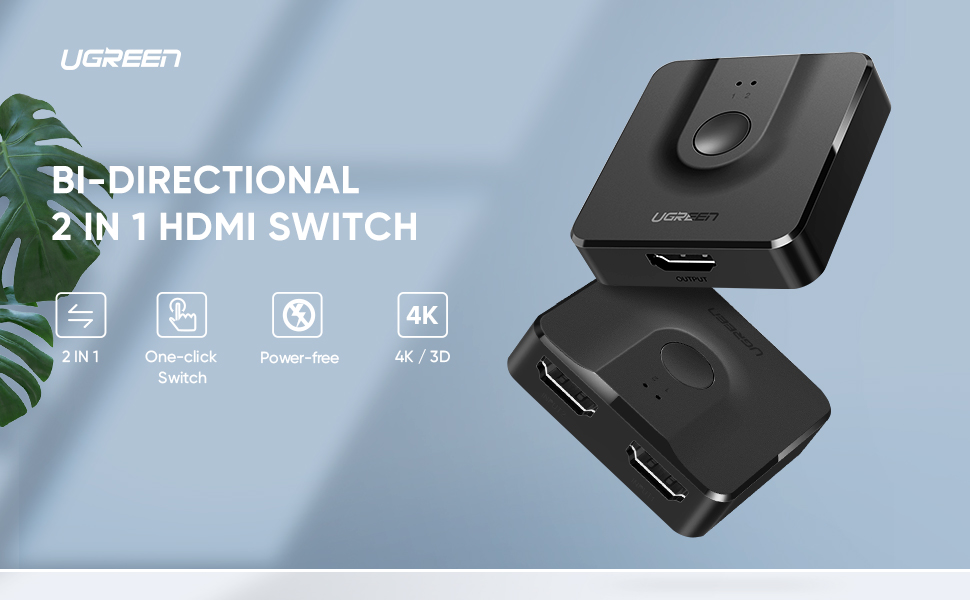 2 IN 1 OUT HDMI SWITCH