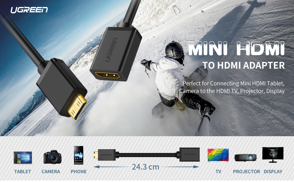 mini hdmi to hdmi adapter