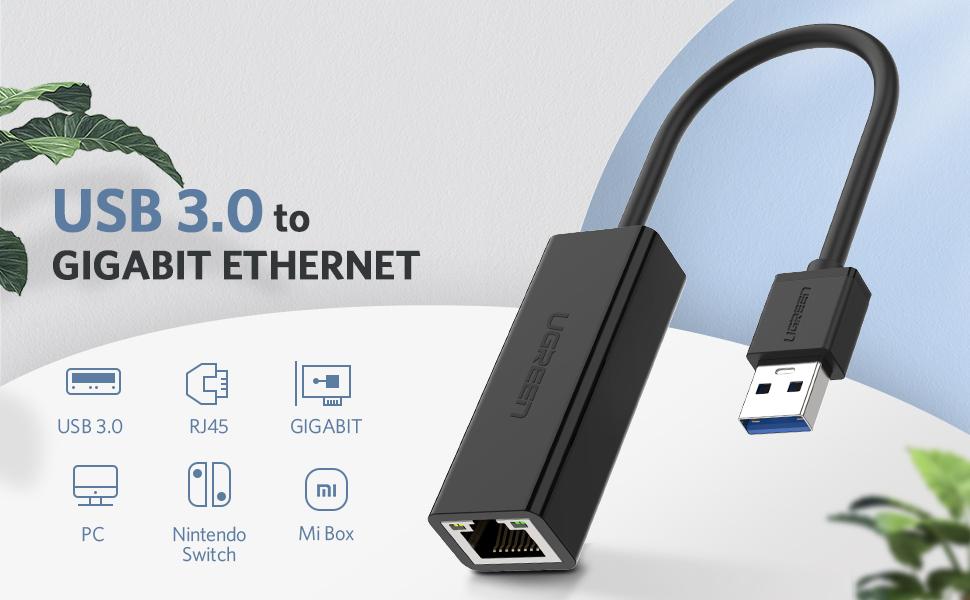 USB 3.0 to Ethernet Gigabit