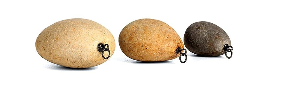 Natural Stone Fishing Weights Swivel Sinkers Pallatrax Stonze Multi Pack