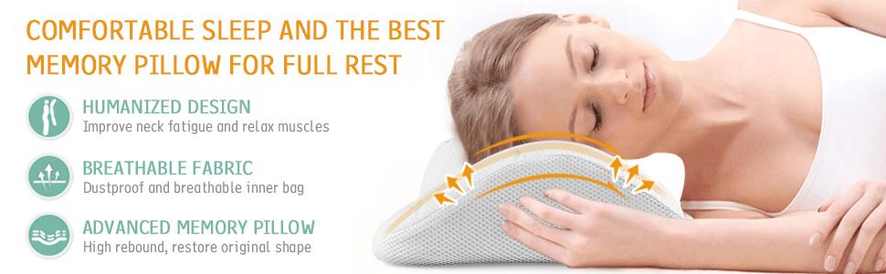 ONSON Memory Foam Pillow, Orthopaedic
