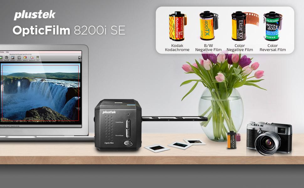 Plustek Opticfilm 8200ise scanner