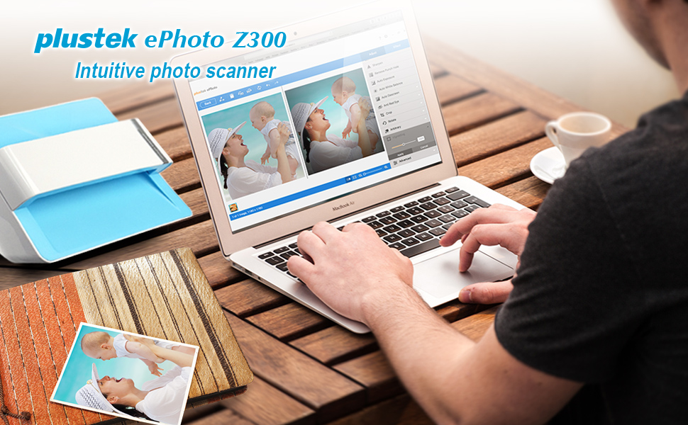 Plustek Photo Scanner Ephoto Z300 Scan 4x6 Photo In 2sec Auto Crop And Deskew With Ccd Sensor Support Mac And Pc