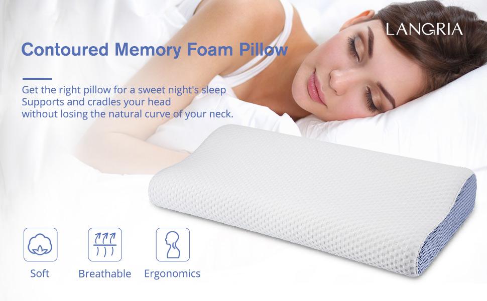 LANGRIA Memory Foam Pillow Cervical
