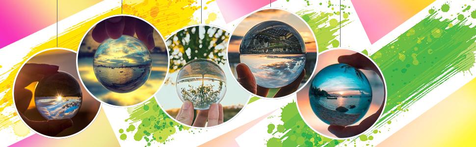 K9 Kristall Sonnenfänger Ball Mit Tasche Mit Mikrofasertasche Dekoratives Und Fotografisches Zubehör 80 Mm Mit Beutel Garten