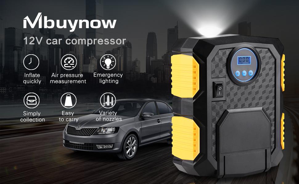 Car Vehicle Inflation Monitor LCD Display LED Backlight Vehicle Inflation Monitor Acouto Tire Air Pressure Inflator Gauge
