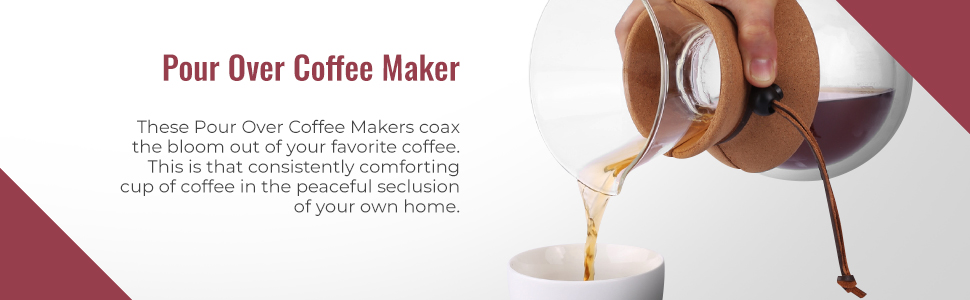 pour over coffee maker brewer by the apace living premier collection