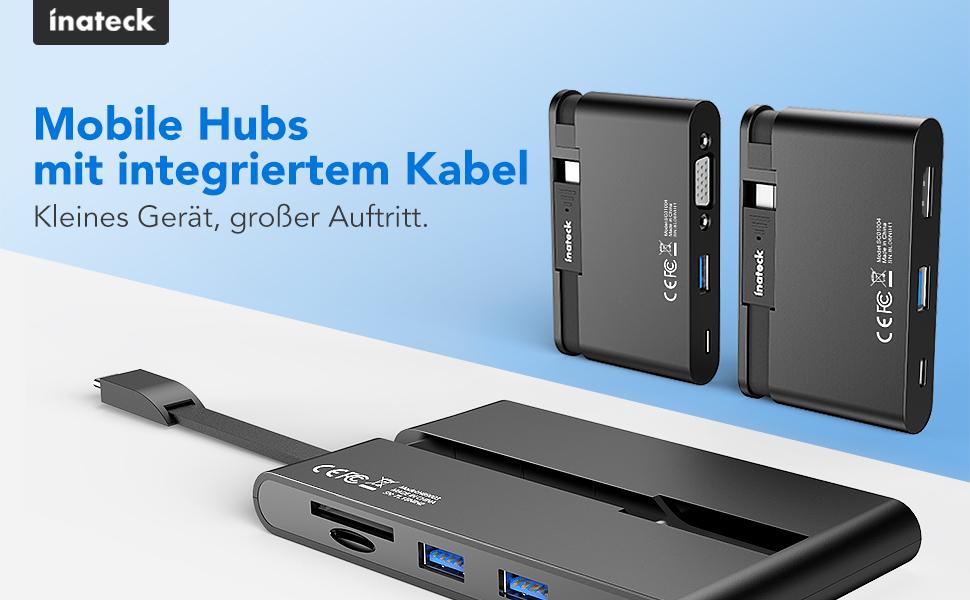 Mobile Hubs mit integriertem Kabel