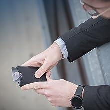 VON HEESEN Kartenetui, Kartenetui Echtleder, Echtleder Geldbörse, Kreditkarten Etui