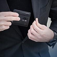 VON HEESEN Echtleder Geldbörse, Mini Wallet aus Echtleder, Slim Wallet Echtleder, Kreditkartenetui