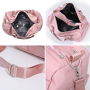 dc6a9010437bd kleinteile handy smartphone fach leicht platz nylon damentasche  trainingstasche gym urlaub shopping