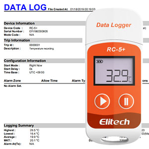 Elitech RC-5 Temperatur Datenlogger Mini USB Temp Rekorder Interner Externer Sensor Hohe Genauigkeit 32000 Punkte Record Kapazit/ät Wasserdicht nach IP67. RC-5 2Packungen