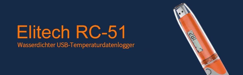 Temperatur Datenlogger Elitech Mini Usb Temp Rekorder Interner Externer Sensor Im Labor Treibhaus Oder Zu Hause Rc 51 Gewerbe Industrie Wissenschaft