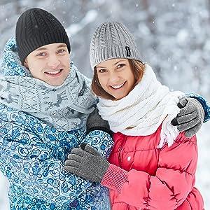 e4ce427f800618 4UMOR Winterhandschuhe Touchscreen Handschuhe Strick ...