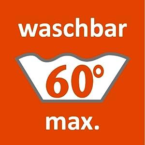 Lavable en machine jusqu'à 60 °C, lavable en machine à 90 °C