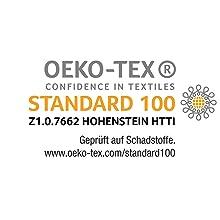Certifié Öko-Tex Öko-Tex 100 Hohenstein Institut Stiftung Warentest, vainqueur du test Ökotest