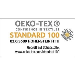 Certifié Öko-Tex 100 Hohenstein.