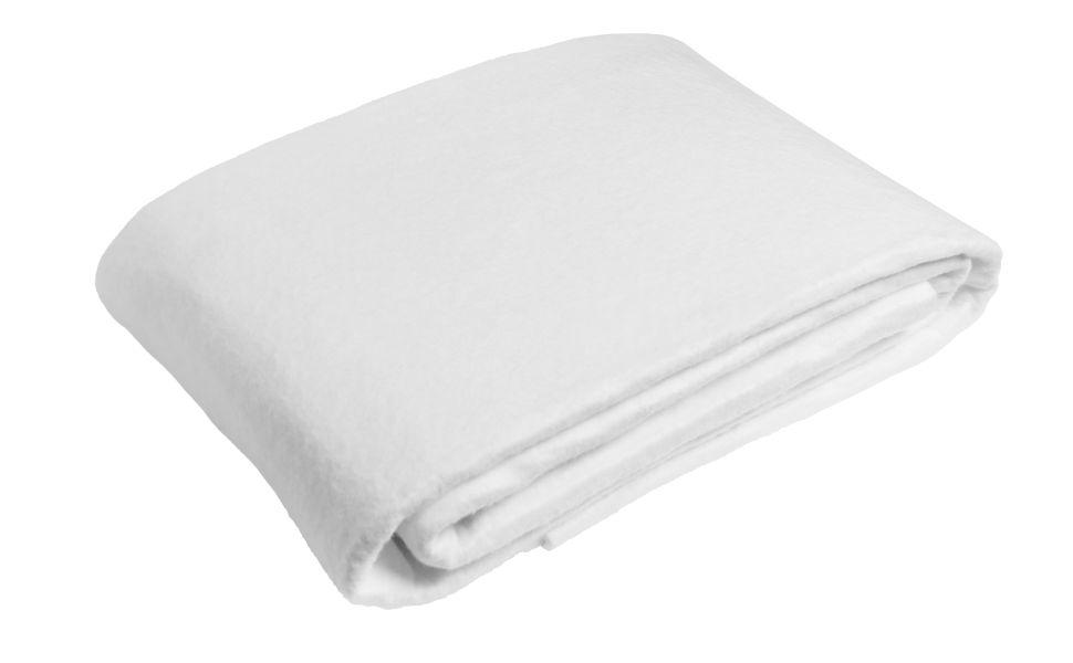 Sleepling – Protector de colchón fabricado en Alemania, recubrimiento de fieltro punzonado de alta calidad para el somier, microfibra, Blanco, 90 x ...