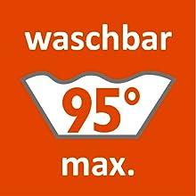 Lavable jusqu'à 95 à 90 °C - Lavable en machine - Laver à l'eau chaude.