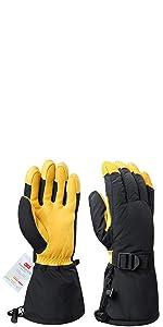 Damen OZERO Thermo HandschuheLeder Warme Winter Handschuhe zum Laufen1 Paar
